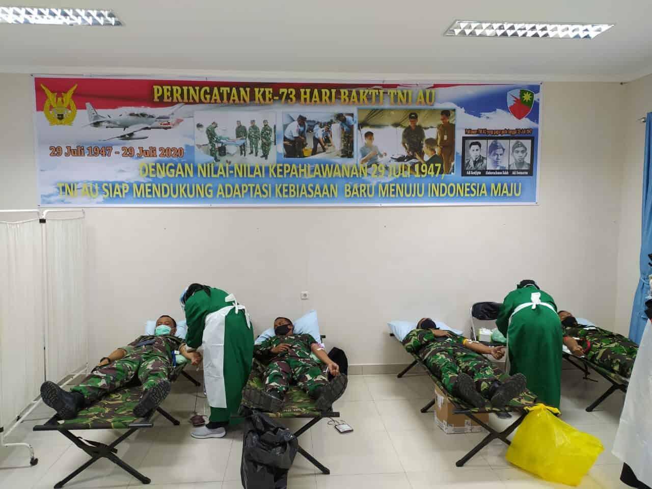 Hari Bakti TNI AU ke-73 Tahun 2020, Lanud Rsa Gelar Bakti Sosial