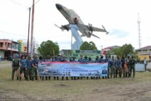Peringatan Ke-73 Hari Bhakti TNI AU, Lanud SIM Laksanakan Karya Bhakti di Monumen Pesawat Hawk Aneuk Galong, Monumen Pesawat RI-001 Blang Padang Dan TMP Peuniti