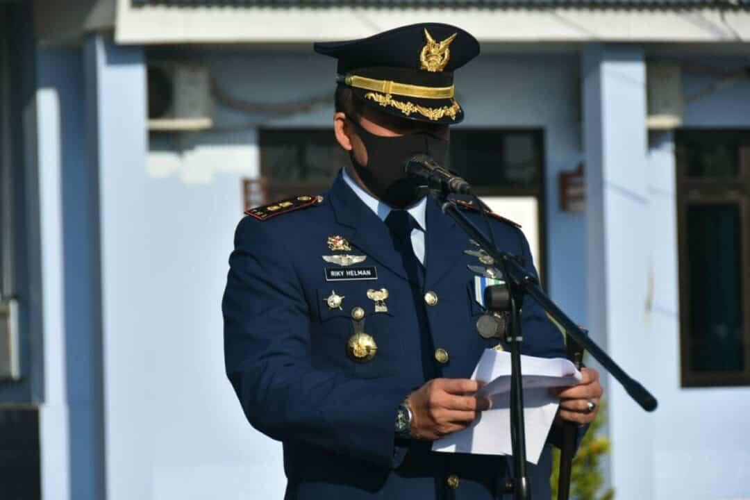Danlanud Sugiri Sukani Pimpin Upacara Peringatan Hari Bakti ke-73 TNI AU