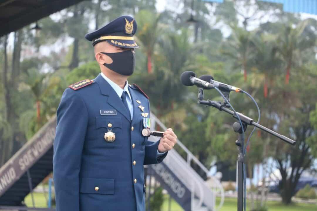Kolonel Pnb JH. Ginting Pimpin Upacara Peringatan Hari Bakti TNI AU ke 73 Tahun 2020 di Lanud Soewondo.