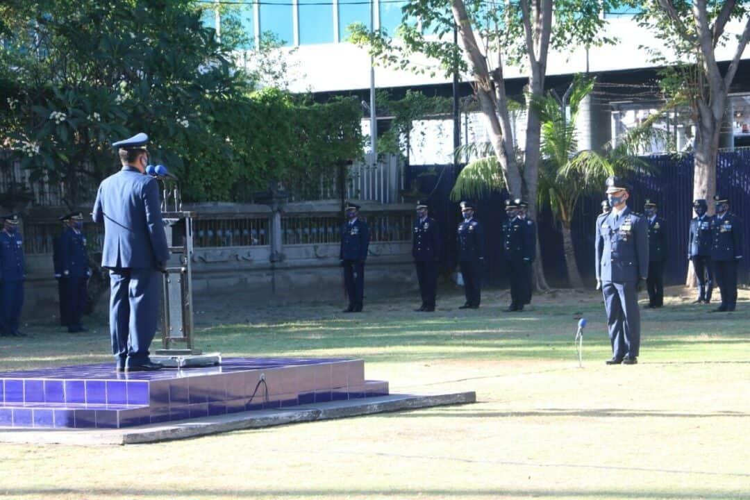 Peringatan ke-73 Hari bakti TNI Angkatan Udara, Lanud I Gusti Ngurah Rai Gelar Upacara dengan Sederhana