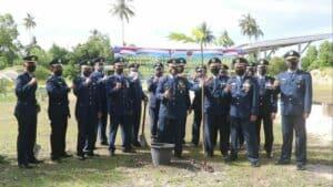 Komandan Lanud Rsa Laksanakan Penanaman Serentak 2.020 Pohon Sukun