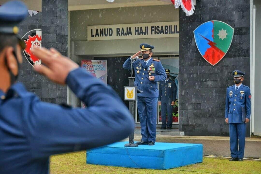 """Upacara Hari Bakti TNI AU ke-73 di Lanud RHF, Kasau : """"Perjuangan Kita Melawan Covid-19 Belum Usai!"""""""