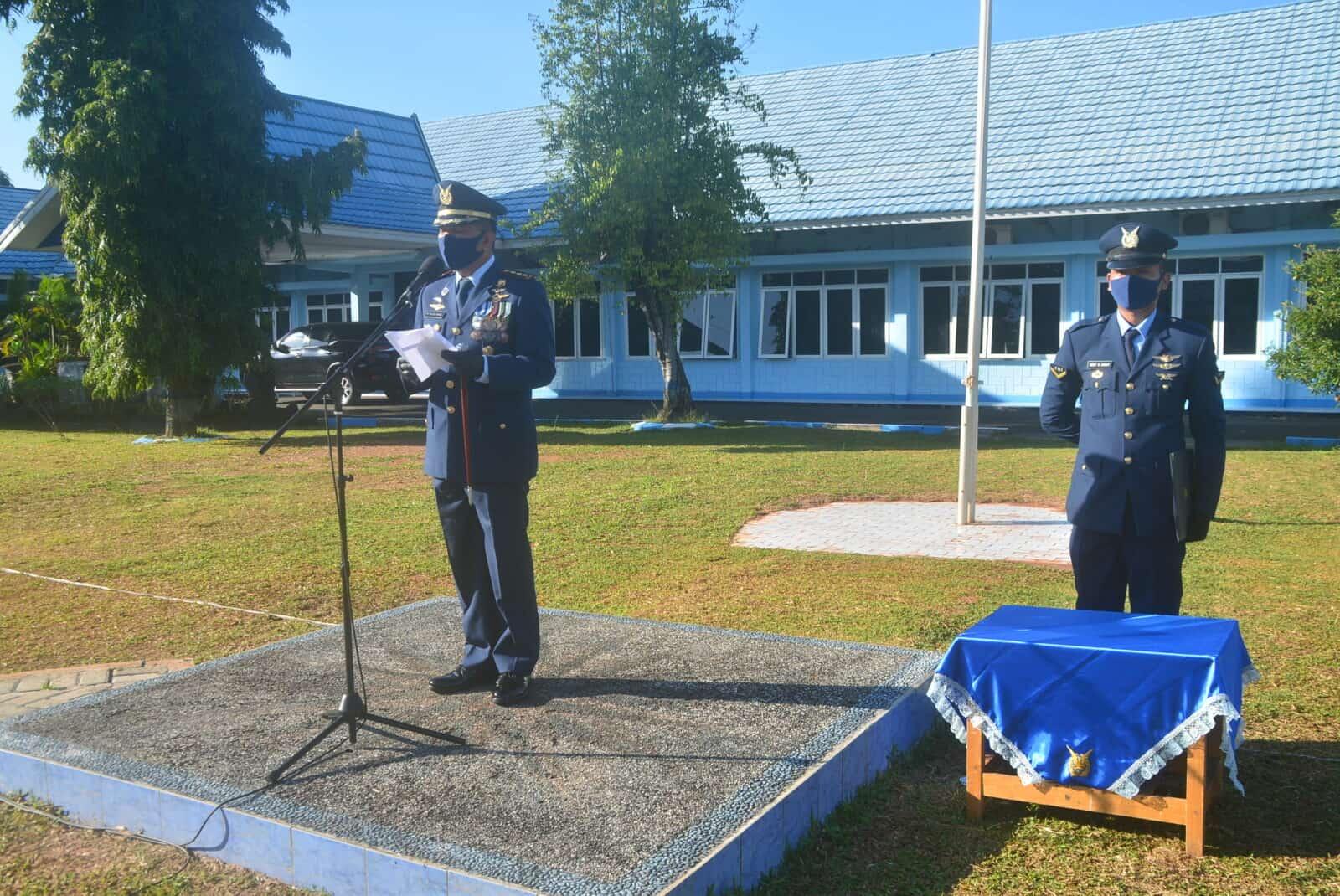 Upacara Peringatan Hari Bhakti TNI AU ke-73 Tahun 2020 di Lanud Sjamsudin Noor