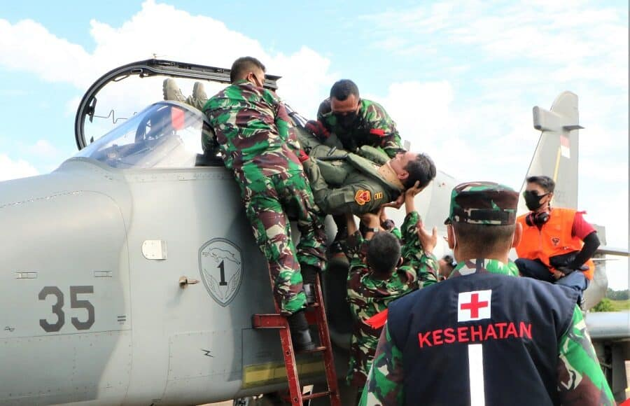 Pangkalan TNI AU Supadio Gelar Latihan Crash Team
