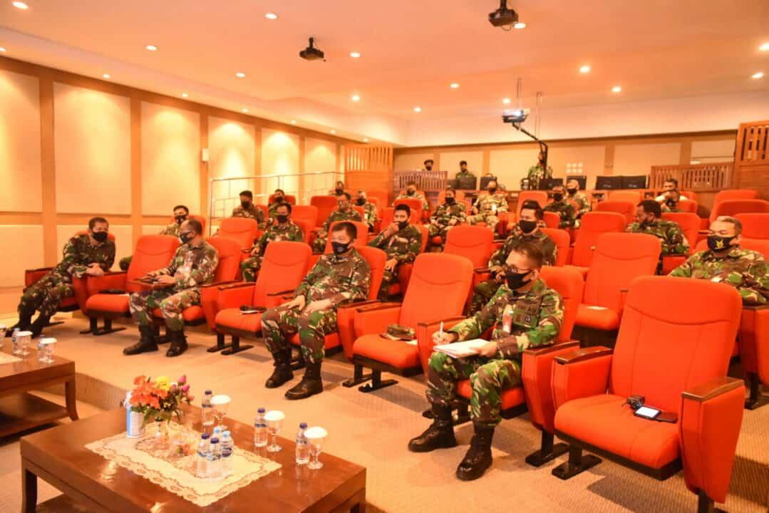 Cegah Covid-19 Pangkoopsau I Paparkan Instruksi Presiden dan Penekanan Panglima TNI