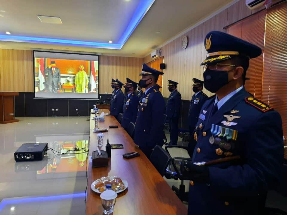 Di Lanud Rsn Danwing 6 Pimpin Melalui Virtual Upacara HUT Kemerdekaan RI