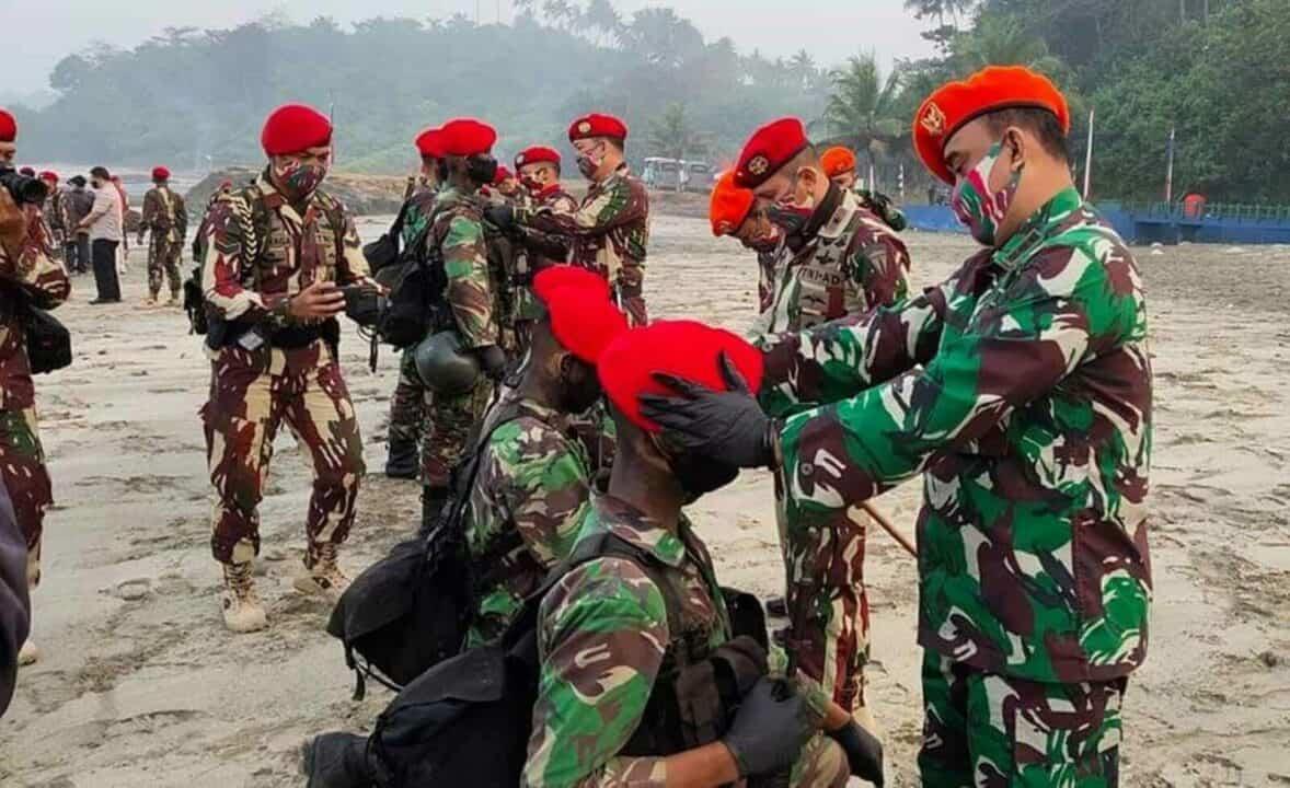 10 Prajurit Korpaskhas Lulus Pendidikan Komando Kopassus Angkatan 104 TA. 2020