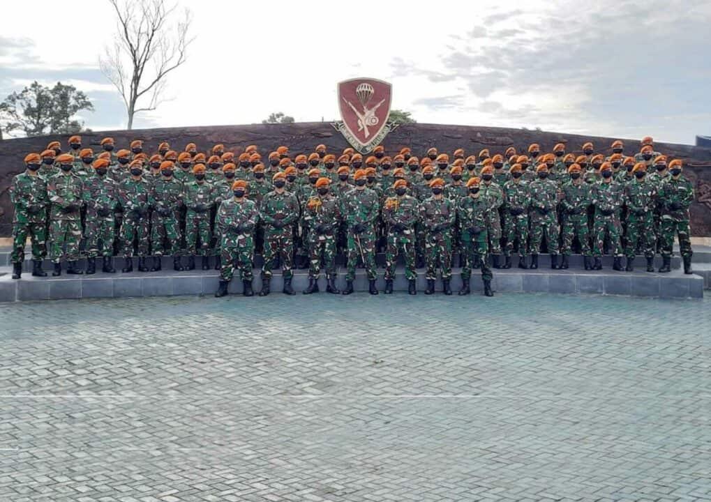 Yonko 462 Paskhas Laksanakan Tradisi Pengukuhan Dansimayon Batalyon Komando 462