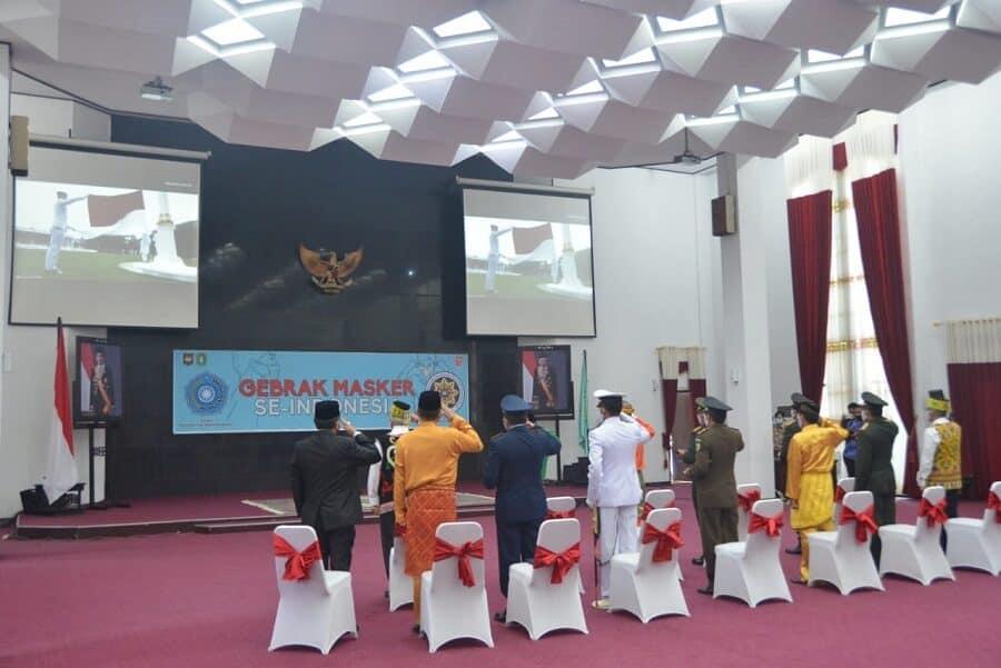 Komandan Lanud Supadio Hadiri Upacara HUT Ke-75 RI