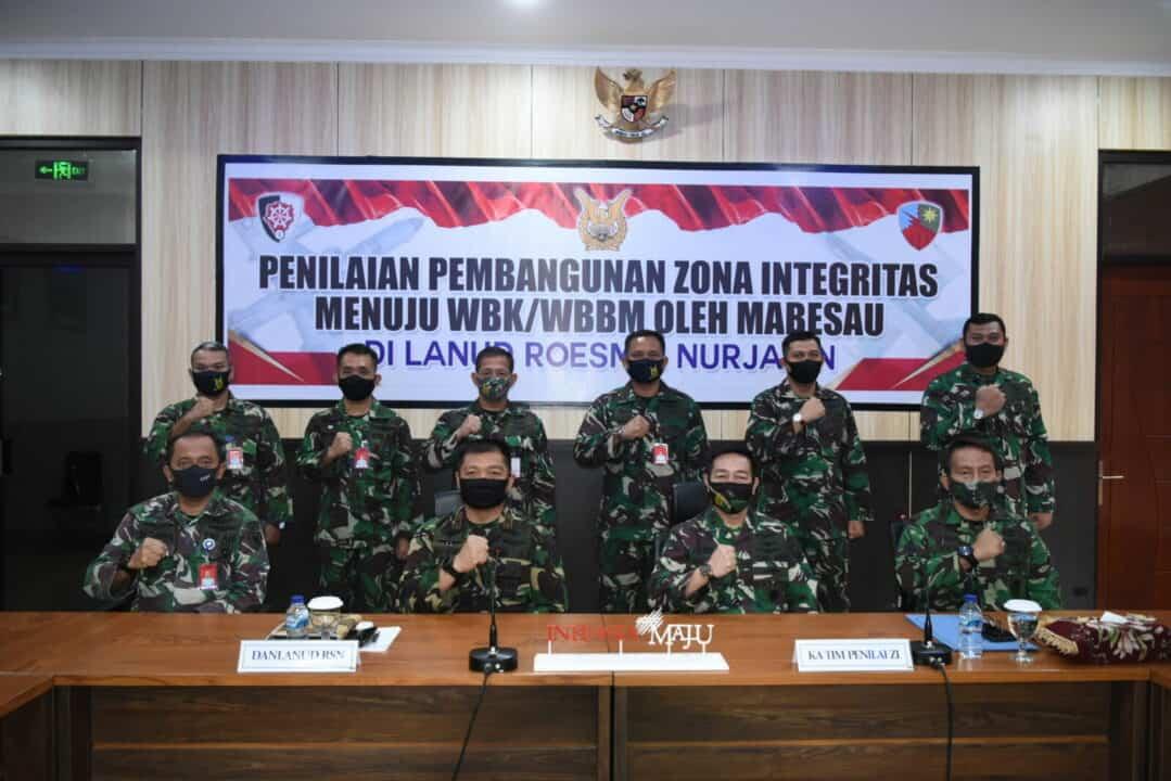 Tim Penilai Internal (TPI) Mabesau Nilai ZI Lanud Rsn
