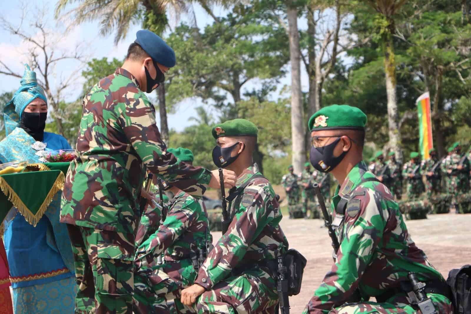 Danlanud Rsn Dampingi Pangdam I/BB Sambut Prajurit Yonif 132/BS Salo