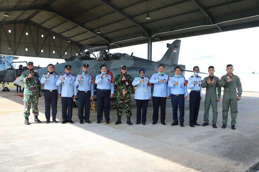 Kakanwil Kemenkumham Kalimantan Barat Kunjungi Lanud Supadio