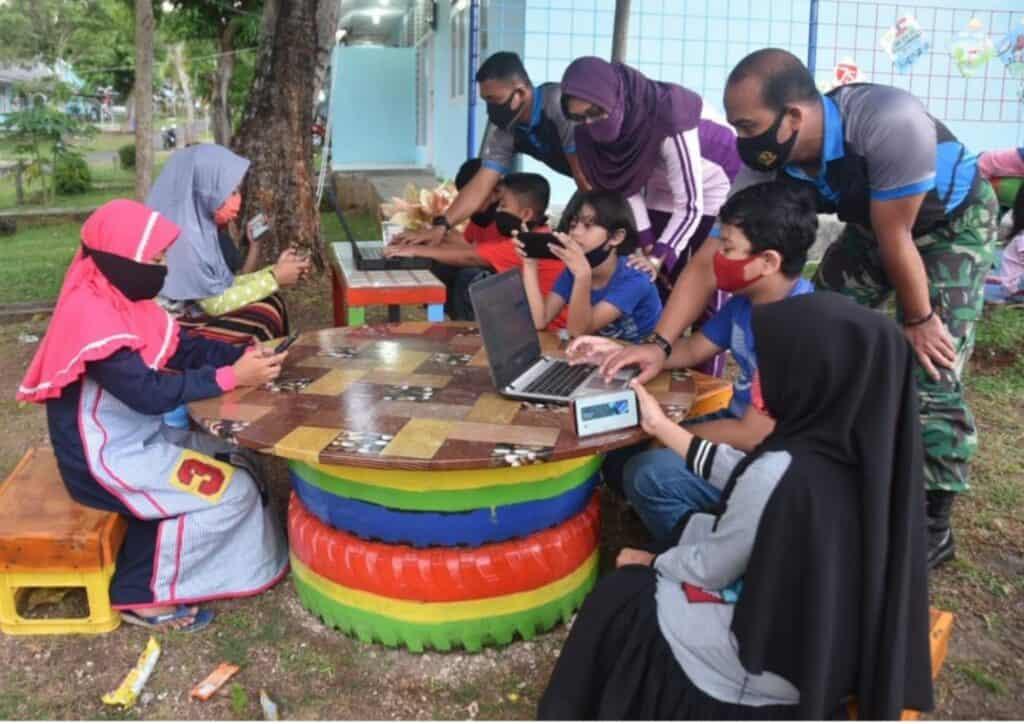 Satrad 233 TNI / AU Sabang Buka Ruang Taman Belajar