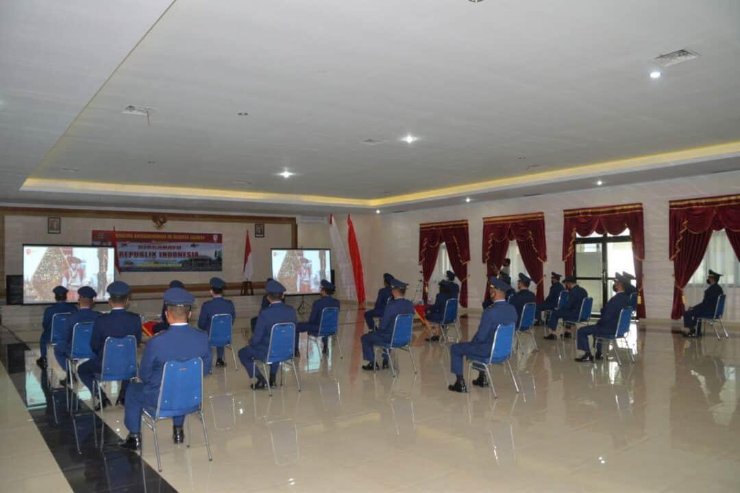 Pangkosekhanudnas III Mengikuti Secara Virtual Peringatan Detik-Detik Proklamasi Kemerdekaan Indonesia