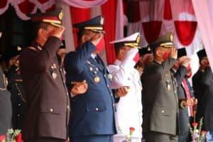Komandan Lanud Dhomber Hadiri Upacara Peringatan Ke-75 Kemerdekaan RI