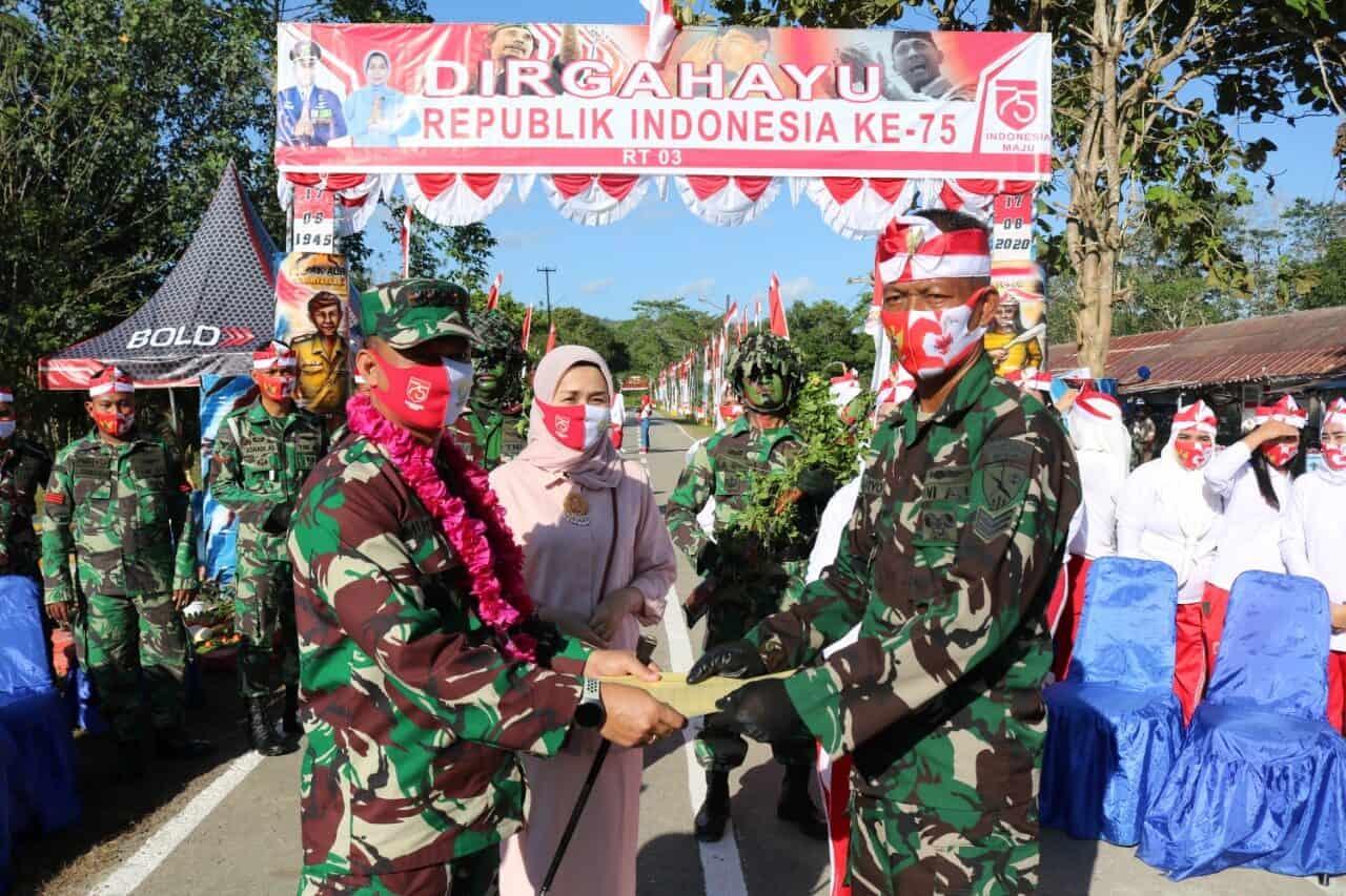 Menyambut Hari Kemerdekaan RI yang ke-75 di Lanud Haluoleo