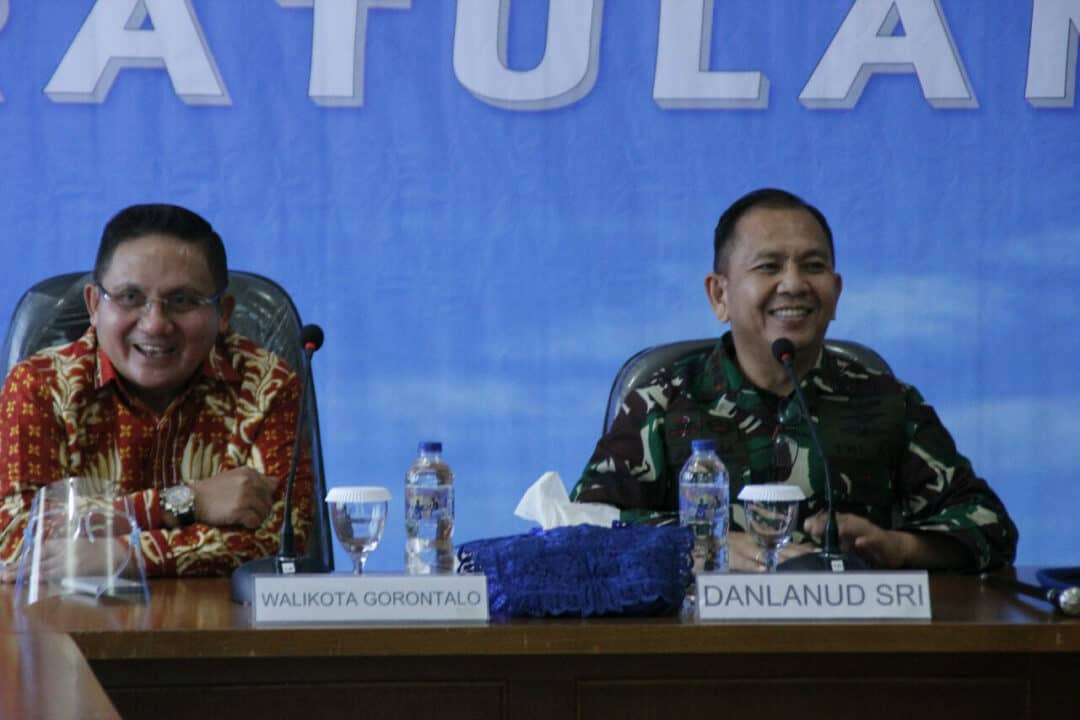 *Danlanud Sam Ratulangi Manado Sambut Walikota Gorontalo*