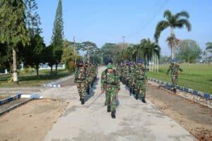Latihan PBB Bersenjata di Lanud Pangeran M. Bun Yamin