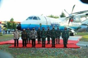 Pesawat N 250 Gatotkaca diabadikan di Museum Pusat TNI AU Dirgantara Mandala