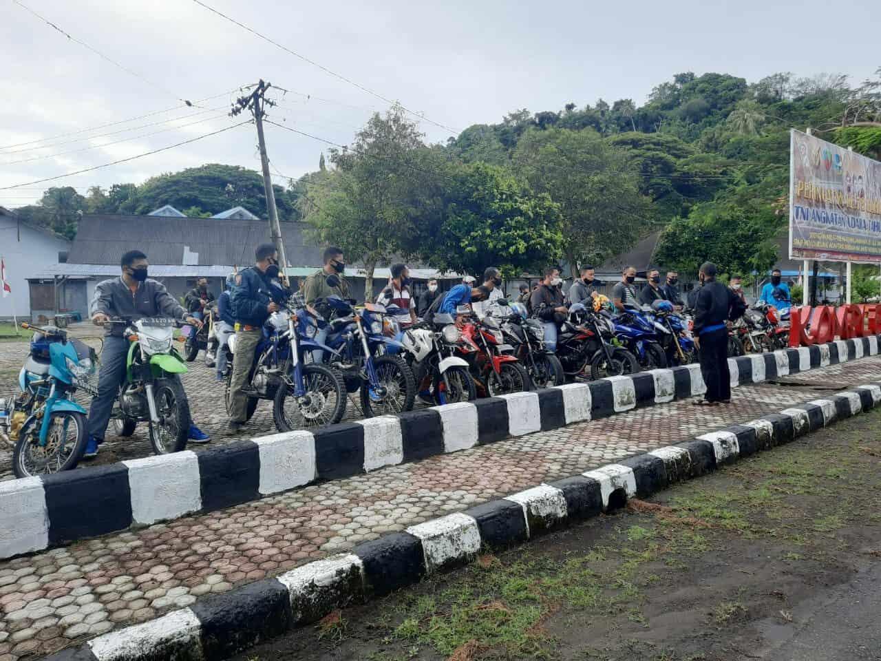 Pengobat Rindu Para Bikers Lanud MUS, Gelar Touring Telusuri Keindahan Pulau Perbatasan Sekaligus Sosialisasi Akan Pentingnya Masker Dalam Berkendara.