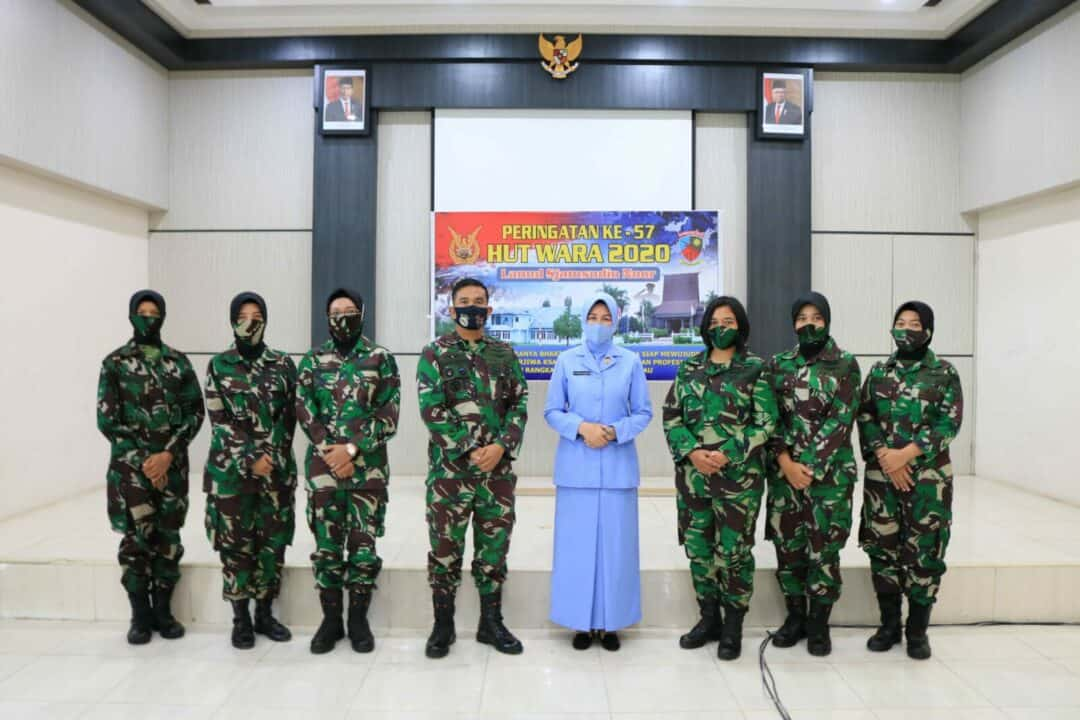 Wara Lanud Sjamsudin Noor Ikuti Pembekalan Dalam Rangka HUT ke-57 Wanita Angkatan Udara