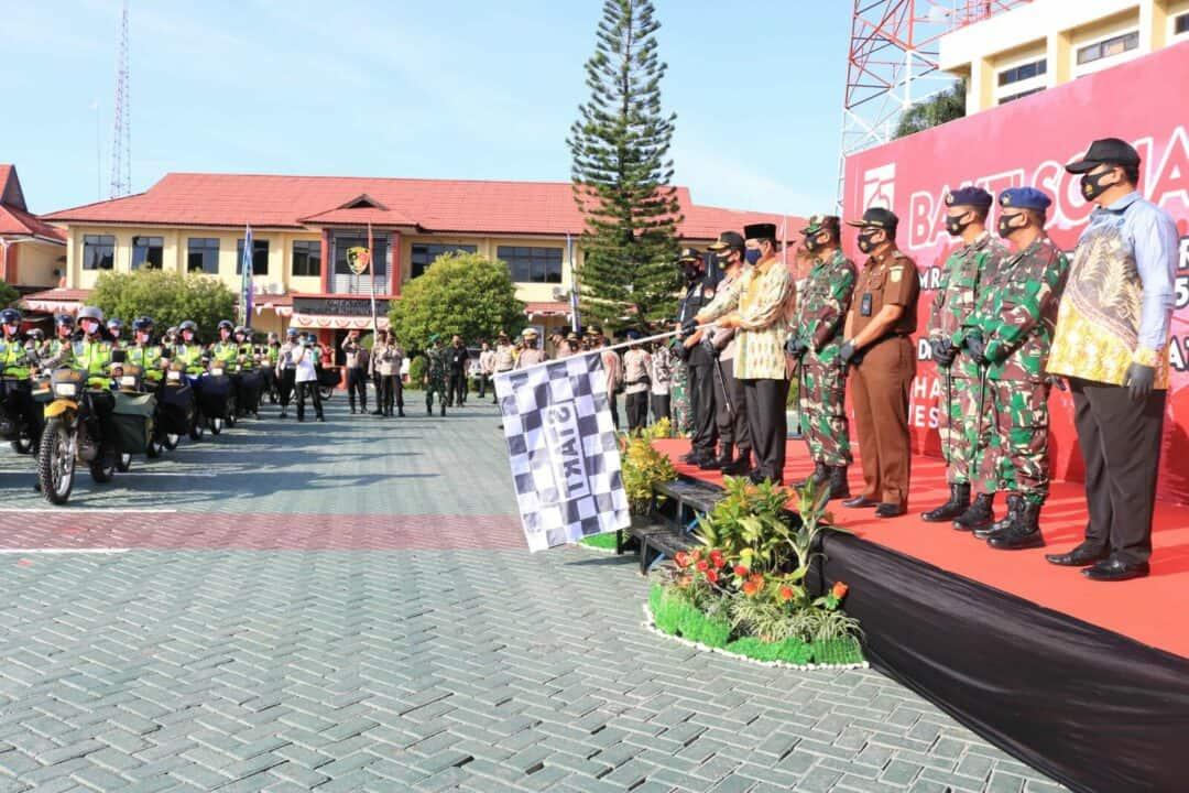 Komandan Lanud Sjamsudin Noor Ikuti Bakti Sosial Dalam Rangka Memperingati Proklamasi Kemerdekaan Republik Indonesia ke 75 di Polda Kalimantan Selatan