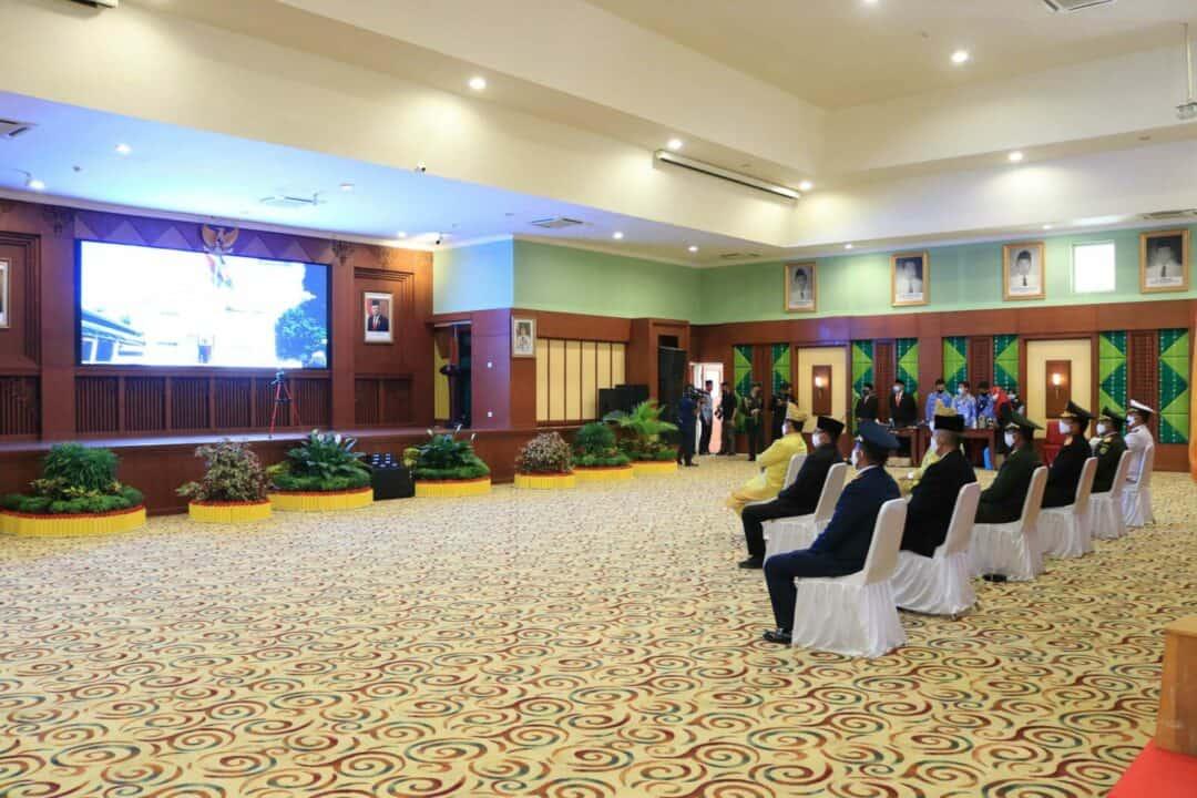 Komandan Lanud Sjamsudin Noor Ikuti Upacara HUT RI ke-75 Secara Virtual Di Provinsi Kalimantan Selatan