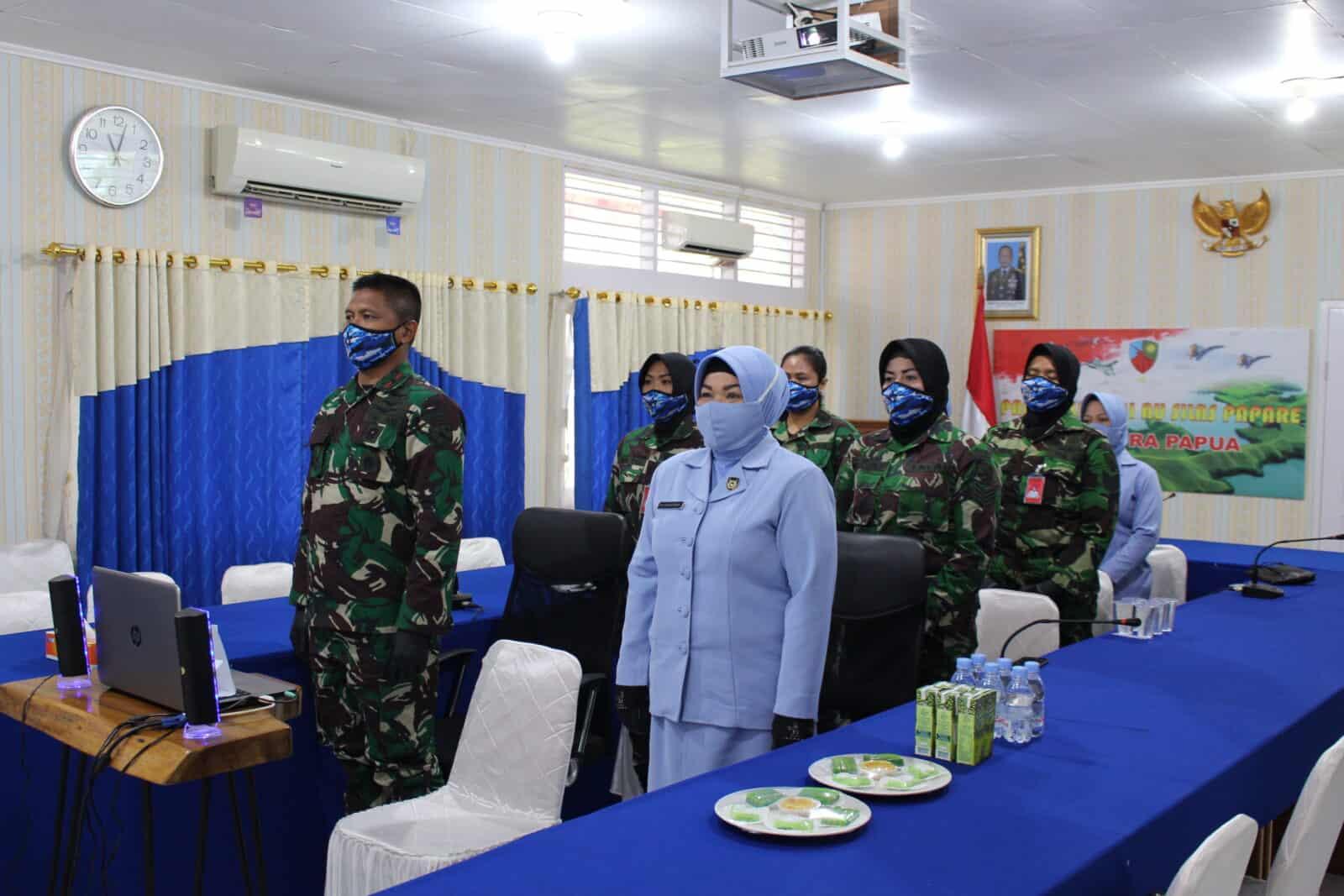 Pembekalan Wara di Lanud Silas Papare Dalam Rangka HUT ke-57 Wanita Angkatan Udara