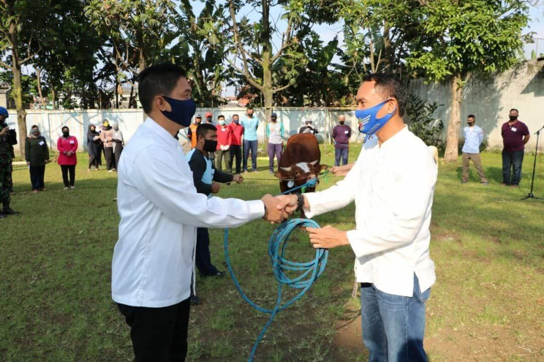 Warga Lanud Husein Sastranegara merayakan Idul Adha dengan Protokol Kesehatan Covid-19