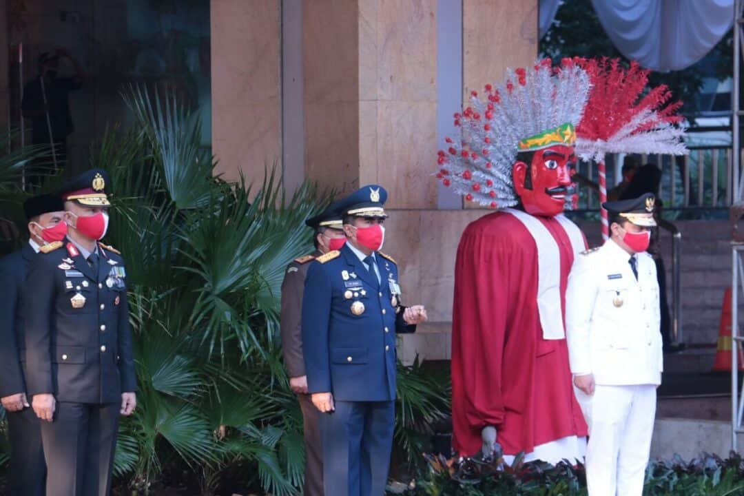 Pangkoopsau I Hadiri Upacara 17 Agustus di Balai Kota Jakarta