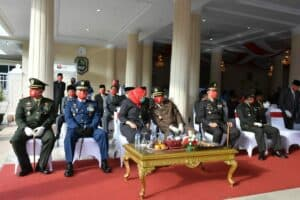 Komandan Lanud Sugiri Upacara Hadiri Peringatan Detik-Detik Proklamasi Kemerdekaan ke-75 Republik Indonesia