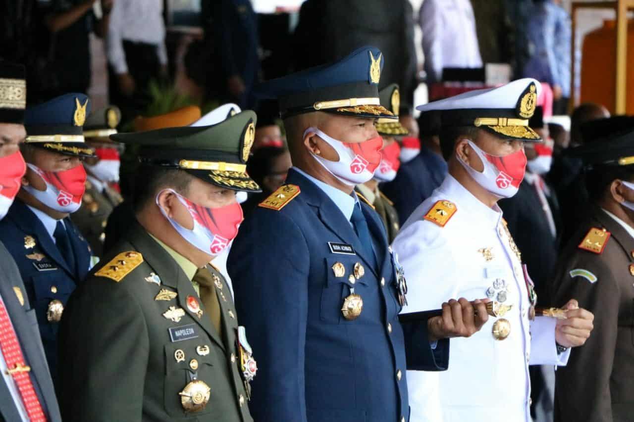 Danlanud Silas Papare Hadiri Upacara Peringatan HUT ke-75 Proklamasi Kemerdekaan di Lapangan Apel Kantor Gubernur Papua
