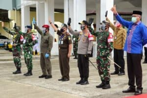 Danlanud SIM Sambut Kedatangan Presiden Republik Indonesia Ir. H. Joko Widodo