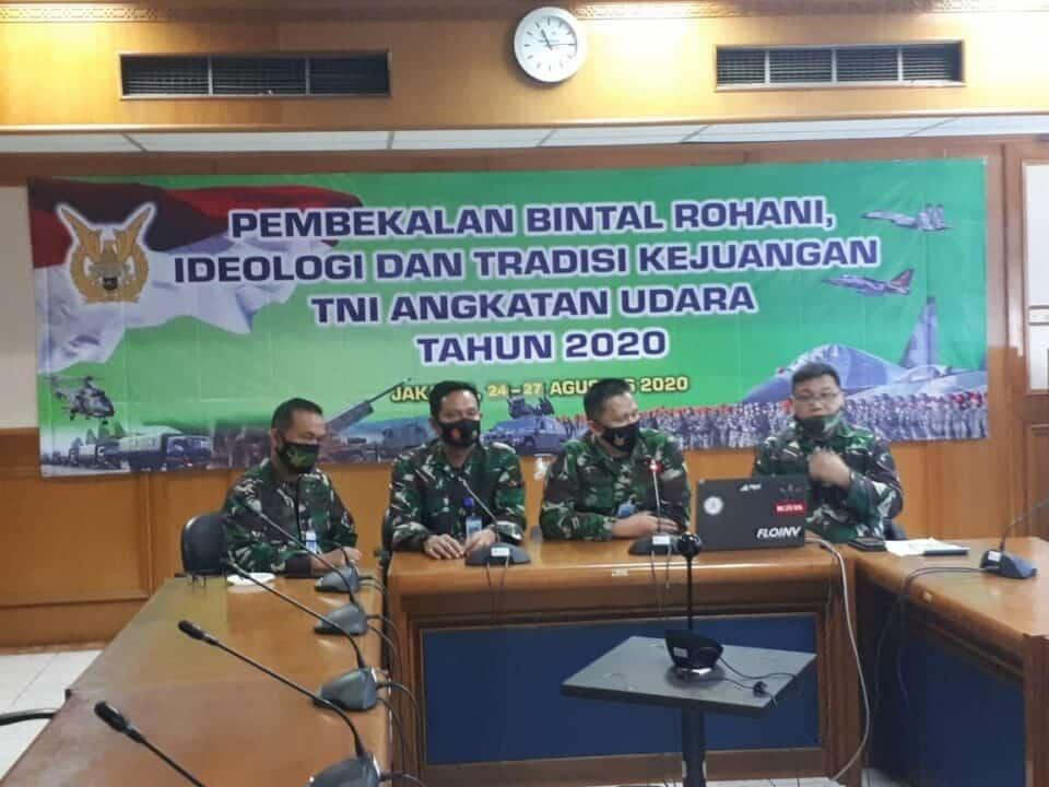 Waaspers Kasau Tutup Pembekalan Bintal TNI AU Tahun 2020