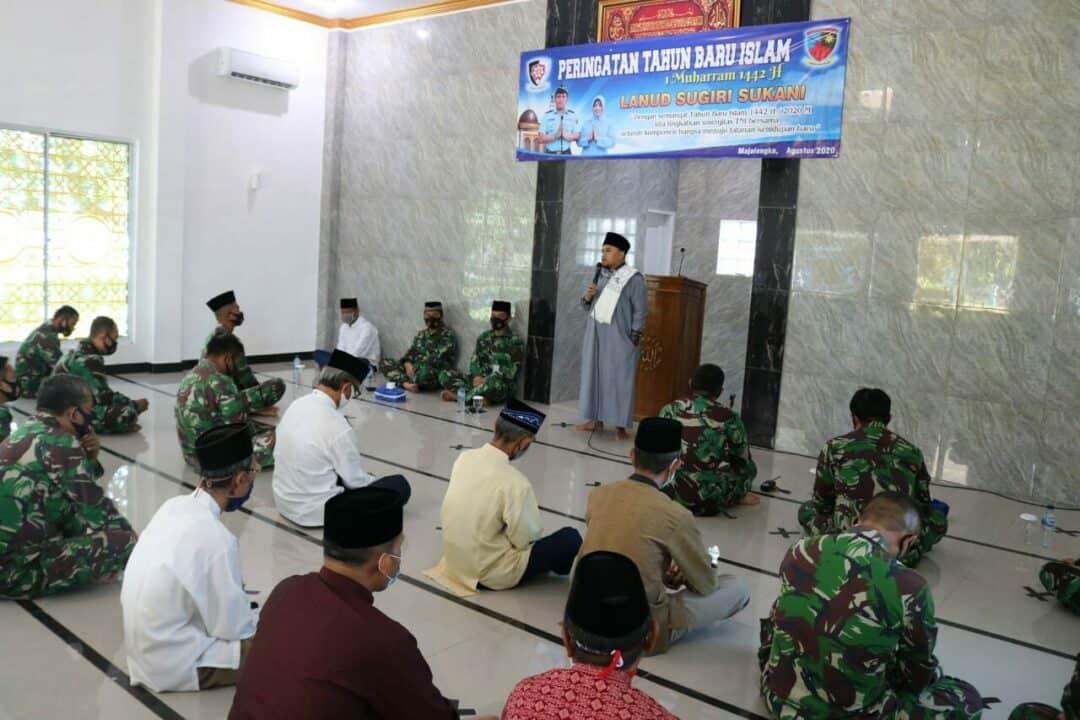 Lanud Sugiri Sukani melaksanakan Peringatan Tahun Baru Hijriyah 1442H/2020 M
