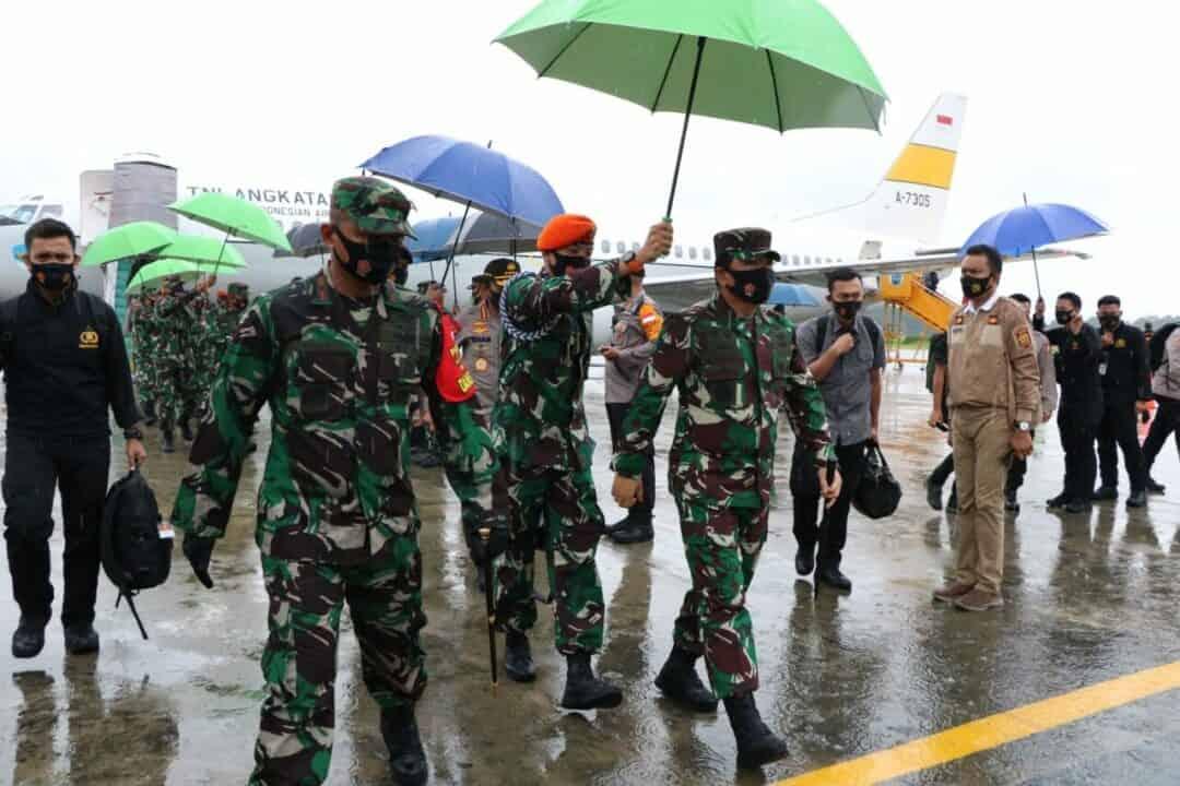 Danlanud SPR Sambut Panglima TNI dan Kapolri
