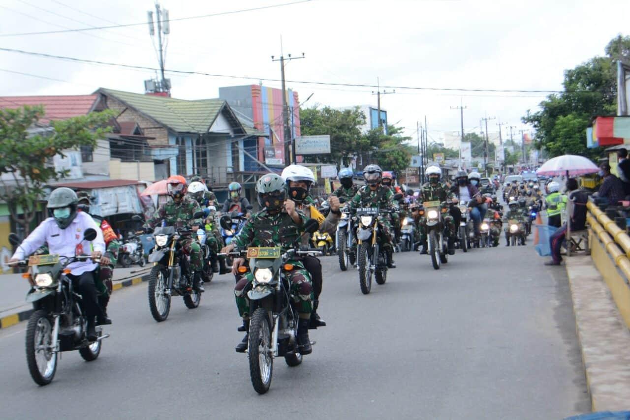 Komandan Lanud Sjamsudin Noor Ikuti Acara Apel Gelar Tim Mobile Penanganan Covid-19 di Wilayah Kalsel