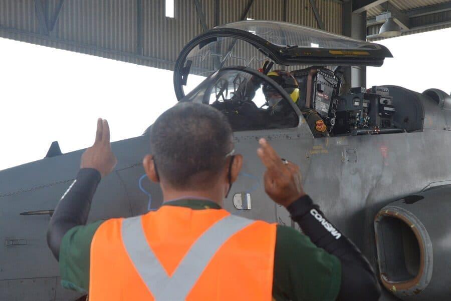 """Dukung Latihan Perkasa """"A"""" 2020, Lanud Supadio Terbangkan Hawk 100/200 Skadron Udara 1"""
