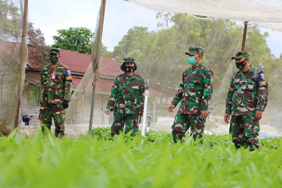 Tahwil Ster Panglima TNI Kunjungi Ketahanan Pangan Lanud Rsn