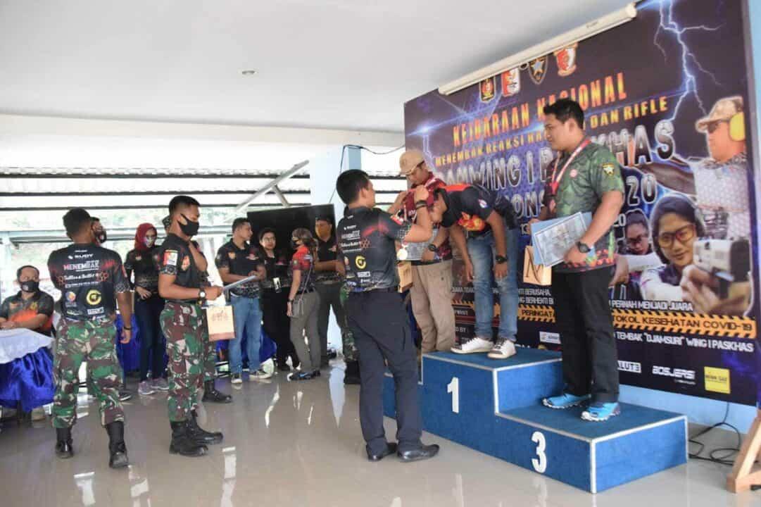 Kejuaraan Nasional Menembak Reaksi Handgun dan Rifle Danwing I Paskhas Championship 2020