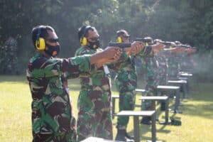 Perwira Lanud Rsn Pertajam Kemampuan Menembak
