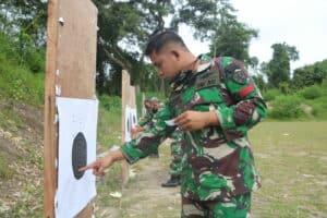 Gunakan Laras Panjang, Prajurit Lanud Rsn Asah Kemampuan Menembak