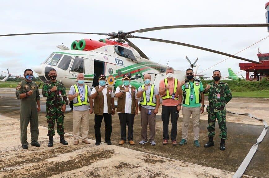 Tenaga Ahli BNPB Lakukan Verifikasi Heli BNPB di Lanud Supadio