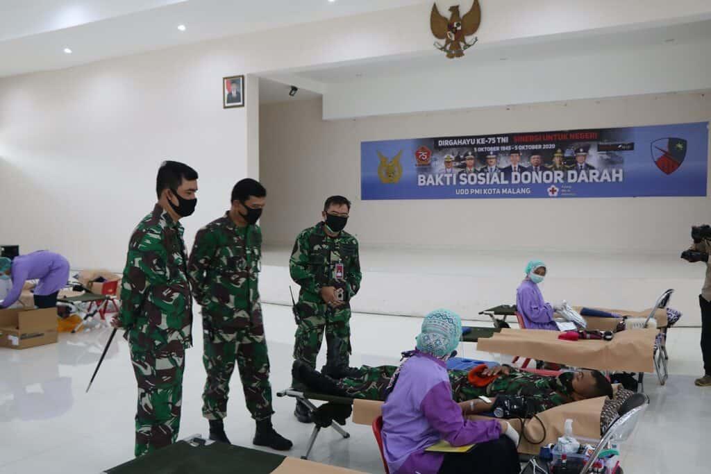 Jelang Hari TNI ke-75 Lanud Abd Saleh dan Insub Gelar Donor Darah