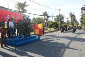 Tinjau Kesiapan Jalak Sakti, Pangkoopsau I bagikan 1000 Bansos