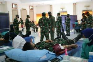 Sambut HUT ke-75 TNI, Lanud Iswahjudi Gelar Bakti Sosial Donor Darah