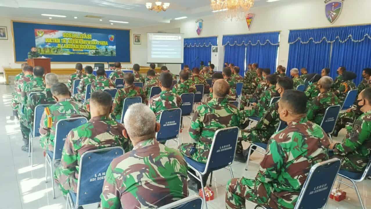 Sosialisasi Doktrin TNI AU Swa Bhuwana Paksa di Lanud Adi Soemarmo