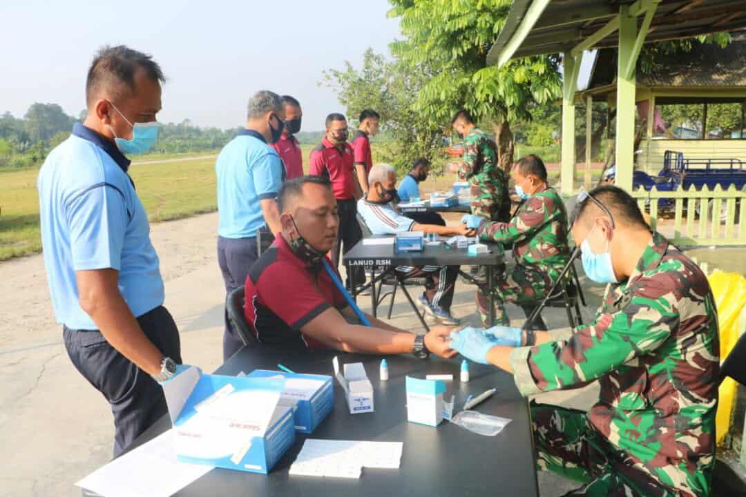 Deteksi Dini Covid-19 Personel Lanud Rsn Jalani Rapid Test