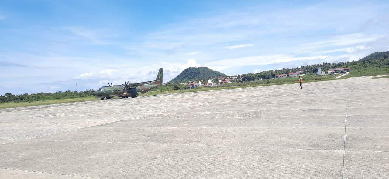 Selamat Datang Pesawat CN-295 Di Bumi Ujung Barat NKRI Dalam Mendukung Latihan Operasi Udara Jalak Sakti 2020
